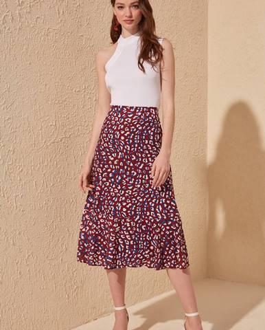 Vínová sukňa Trendyol