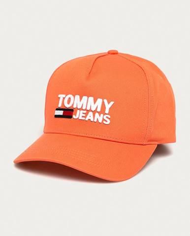 Ružová čiapka Tommy Jeans