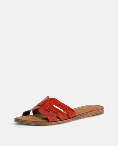 Oranžové papuče Tamaris