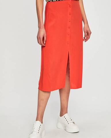 Oranžová sukňa Answear