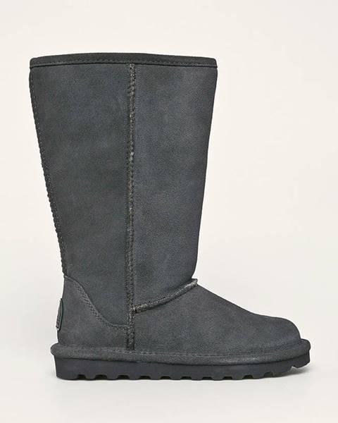 Sivé zimná obuv Bearpaw