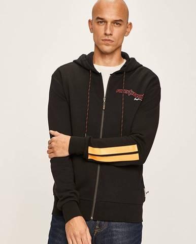 Čierna bunda s kapucňou Roberto Cavalli Sport