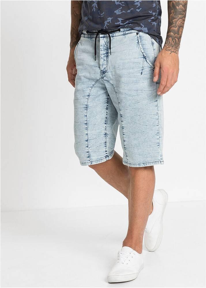 bonprix Teplákové džínsové bermudy, Regular Fit