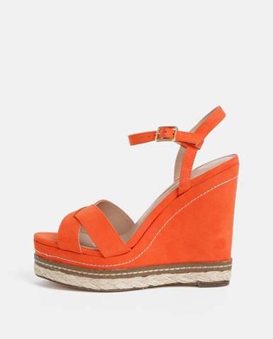 Oranžové na platforme Dorothy Perkins