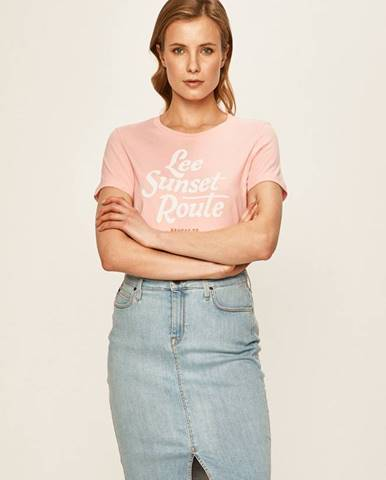 Ružové tričko Lee
