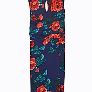 Puzdrové šaty s kvetinovou potlačou