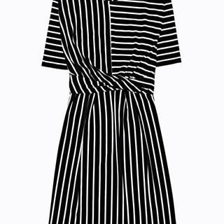 Prúžkované šaty s uzlom