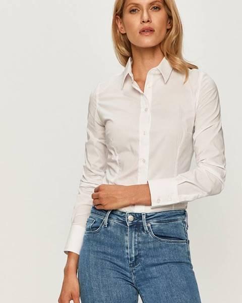 Biela košeľa Trussardi Jeans